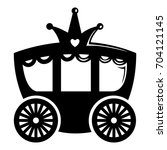 carriage icon. simple... | Shutterstock .eps vector #704121145