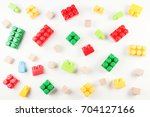 toys background. colorful... | Shutterstock . vector #704127166