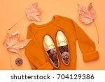 Autumn Arrives. Fashion Lady...