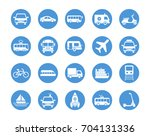 transport circular icons set | Shutterstock .eps vector #704131336