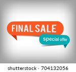 final sale orange tag banner ... | Shutterstock .eps vector #704132056