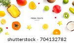 creative layout made of... | Shutterstock . vector #704132782
