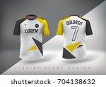 soccer t shirt design slim... | Shutterstock .eps vector #704138632
