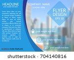 blue curve business flyer...   Shutterstock .eps vector #704140816