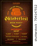 oktoberfest beer festival...   Shutterstock .eps vector #704147512