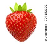 red berry strawberry isolated... | Shutterstock . vector #704153302