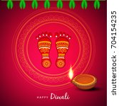 deepawali text based greeting... | Shutterstock .eps vector #704154235