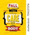 gym inspiring creative... | Shutterstock .eps vector #704157376