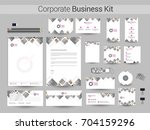 corporate identity with grey... | Shutterstock .eps vector #704159296