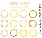 Round Paint Brush Stroke Vecto...