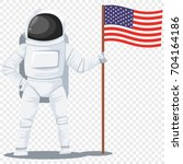 astronaut in helmet and... | Shutterstock .eps vector #704164186