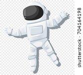 astronaut in helmet and...   Shutterstock .eps vector #704164198