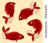 red fish | Shutterstock .eps vector #70416454