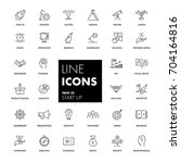 line icons set. start up pack.... | Shutterstock .eps vector #704164816
