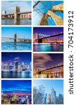 collage of new york photos | Shutterstock . vector #704173912