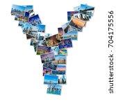 english alphabet letter made of ... | Shutterstock . vector #704175556