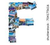 english alphabet letter made of ... | Shutterstock . vector #704175616