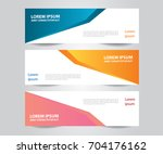 set of  vector design banner... | Shutterstock .eps vector #704176162