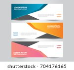 set of  vector design banner... | Shutterstock .eps vector #704176165