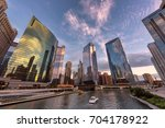 chicago downtown and chicago... | Shutterstock . vector #704178922