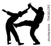 self defense battle vector... | Shutterstock .eps vector #704181292
