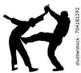 self defense battle vector... | Shutterstock .eps vector #704181292