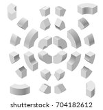 arched shapes in isometric... | Shutterstock .eps vector #704182612