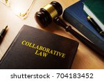 collaborative law on a desk and