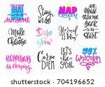 lettering photography overlay... | Shutterstock .eps vector #704196652