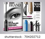fashion makeup magazine... | Shutterstock .eps vector #704202712