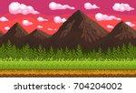 pixel art seamless background.... | Shutterstock .eps vector #704204002