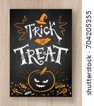trick or treat halloween... | Shutterstock .eps vector #704205355