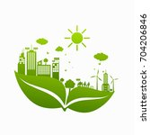 green ecology city... | Shutterstock .eps vector #704206846