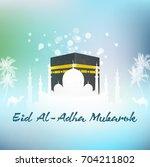 illustration of hajj kaaba and... | Shutterstock . vector #704211802