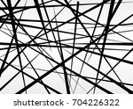 random chaotic lines abstract... | Shutterstock .eps vector #704226322