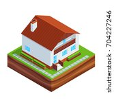 isometric concept of building a ...   Shutterstock .eps vector #704227246