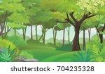 dense green forest.rain forest... | Shutterstock .eps vector #704235328