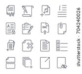 paper icons. document icons.... | Shutterstock .eps vector #704240026