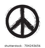 grunge peace sign.vector dirty... | Shutterstock .eps vector #704243656