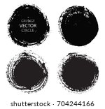 set of grunge circles.distress... | Shutterstock .eps vector #704244166