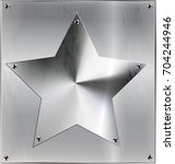 metal sheet with star and holes | Shutterstock .eps vector #704244946