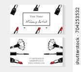 makeup artist banner. business... | Shutterstock .eps vector #704253532