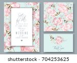 vector wedding invitation cards ... | Shutterstock .eps vector #704253625