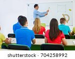 high school students learning... | Shutterstock . vector #704258992