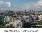 urban day skyline of dhaka city ... | Shutterstock . vector #704264962