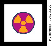 radiation colorful icon on...