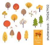 vector illustration set of... | Shutterstock .eps vector #704267932