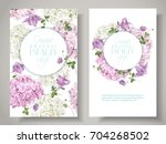 vector natural cosmetic banners ... | Shutterstock .eps vector #704268502