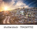 pollution concept. garbage pile ... | Shutterstock . vector #704269702