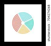 diagram colorful icon on white...